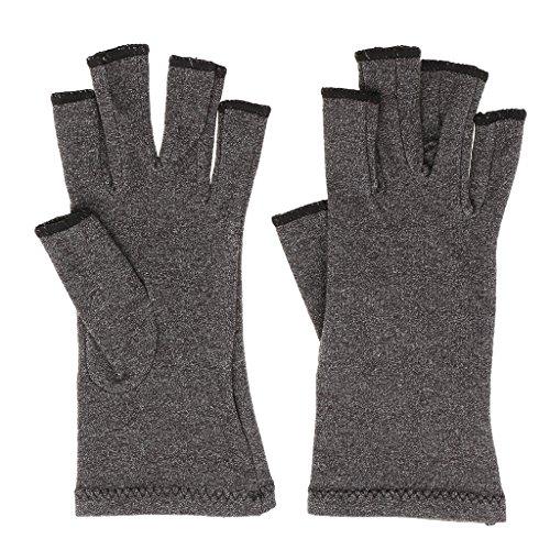 Gazechimp Gants de Compression Anti-arthrose en Coton Elastique et Confortable pour Soulager les Symptômes de l'Arthrite du Canal Carpien - Pour Adultes Unisex