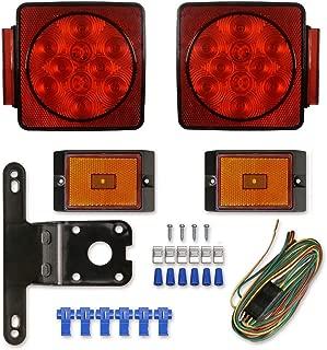 NOVALITE LED Waterproof Trailer Tail Lights Kit Submersible Tail Lamp Running Stop Turn Signal Brake Marker Reversing Backup Light for Truck RV Pickup Bus Towing Vehicle DC12V,Universal