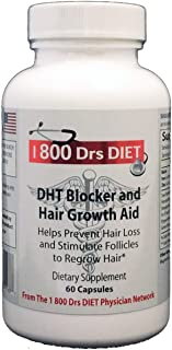 DHT Blocker and Hair Growth Supplement - Naturopathic Formula for Longer, Stronger, Healthier Hair - Scientifically Formulated with Biotin, Saw Palmetto, Fo-Ti Root and More