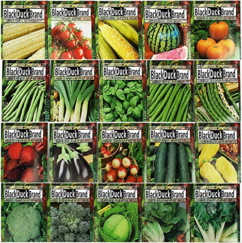 Set of 20 of Our Favorite Premium Variety Vegetable Seeds 10 Or More Varieties - Deluxe Garden Choices for Premium Gardening! (20 Assorted Seed Blind Bag Premium Veggies and Herbs)