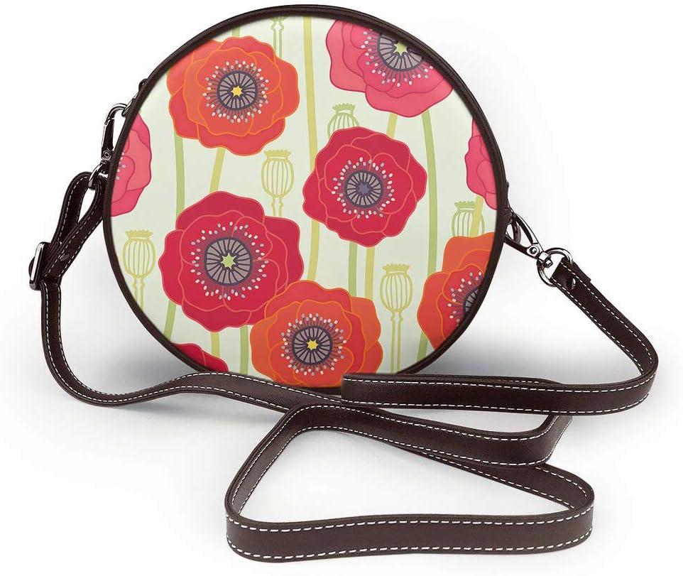 AOYEGO Flower Shoulder Bags Leather Cross-body Handbag Women Girls