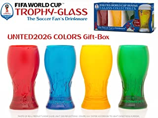 UNITED Colors FIFA World Cup Trophy-glass Gift-Box - The Official Russia 2018 Fan's celebration set