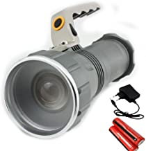 Krevia Long Range Rechargeable Aluminum LED Waterproof Torch (Grey)