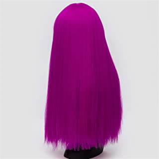 Hairpieces Cosplay Wigs for Women 26 Inch Long Straight Hair Black White Green Red Purple Gold Brown Pink Synthetic Wig wi...