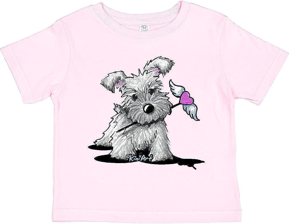 inktastic Schnauzer with Heart Toddler T-Shirt - KiniArt