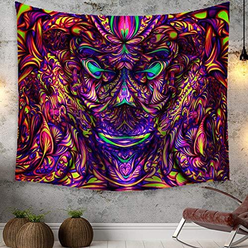 Trippy Psychedelic Tapestry muur opknoping voor slaapkamer - Boheemse Hippie Paars Kleurrijke Plant Monster Art Print Wandtapijt voor Woonkamer Decor Home Decoraties
