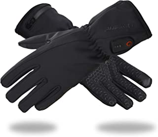 Dr.warm Heated Glove Liners for Men and Women Windproof Touchscreen Anti-Skip with Rechargeable Battery for Outdoor Motorcycle Camping Hiking Skiing, Hand Warmer Heat Up to 3-7H
