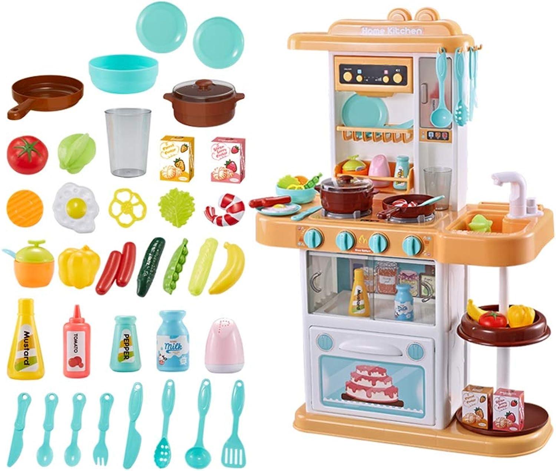 Spielzeuge Xiaomei Kinderspielzeug Kinderküche 3-6 Jahre alte Simulation Küche Küche Set Geburtstagsgeschenk (Farbe   Gelb)