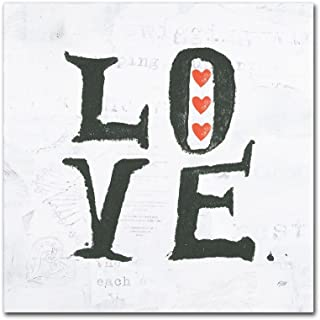 Love by Kellie Day, 35x35-Inch Canvas Wall Art