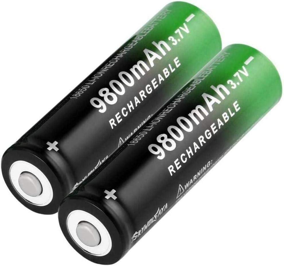 18650 Houston Mall Lithium Easy-to-use Battery 9800mAh 3 7V or LED Bat tip for Flashlight