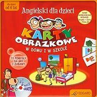 Karty obrazkowe dla dzieci W domu i w szkole z plyta CD