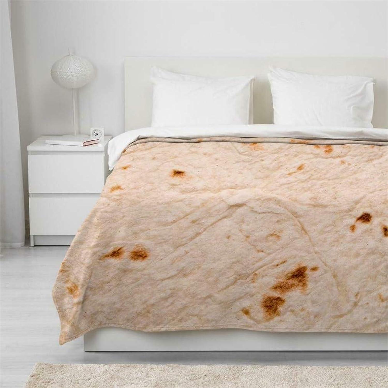 MIRUIKE Realistic Food Creations Pizza BlanketTortilla Texture Burrito Hooded Blanket Warm Soft Blankets Plush Rug Beach Towel,125x150cm