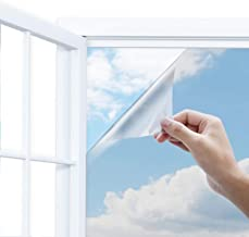 """Uiter One Way Window Film-- Anti UV Static Cling Window Film 100% Light Blocking For Privacy Removal Decorate Heat Control Glass Tint Home Office Windows.(35.4"""" x 78.7"""", Silver)"""