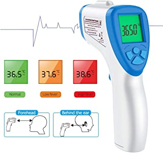 Boodingbooding Fever Thermometer, Non-Contact Infrared Digital Thermometer, Handheld Infrared Digital Non Contact Medical Forehead Thermometer for Adults, Kids, Baby, FDA Approved