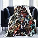 Yoguce Horror Movie Character Ultra-Soft Micro Fleece Xmas Halloween Throw Blanket Birthday Gift 50x40 Inch