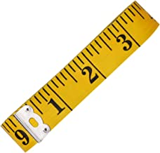 Yellow large leather tape measure metric inch soft tape measure sewing tape 300cm