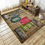 JRLTYU 3D Gedruckter Teppich Holzmaserung braun grün rot Flagge Rutschfester Teppich Weiche & Bequeme Flauschige Wollteppich Für Wohnzimmer,Schlafzimmer,Büro 160 x 230 cm