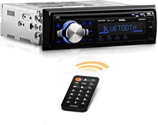 Sound Storm Labs SDC26B Car Stereo CD Player - Single Din Bluetooth Audio and Hands Free Calling MP3 Player CD USB Port AUX Input AMFM Radio Receiver
