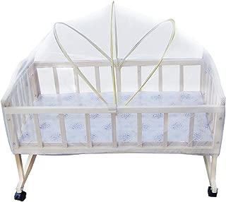 Insektenschutz f/ür Kinderbett in wei/ß com-four/® Insektenschutz f/ür Babybett mit Gummizug 01 St/ück - 145x74x82cm