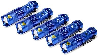 5 Pack groothandel Mini krachtige LED-zaklamp Q5 waterdicht fakkel 5 kleuren zoomable zaklamp 3 modes LED zaklamp gebruik ...