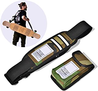 Nice Pies Universal Skateboard Shoulder Carrier Skateboard Shoulder Strap Skateboard Carry Strap with Portable Multi-Function Bag - Fit All Boards!