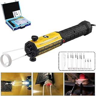 Calentador de inducción magnética, Profesional Ductor el juego de pernos herramienta removedor de calor con 8 bobinas, Herramienta mano calor sin llama Automotive inducción para Paint Menos abolladura