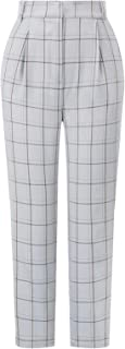 GRACE KARIN Women's Cropped Paper Bag Waist Pants with...