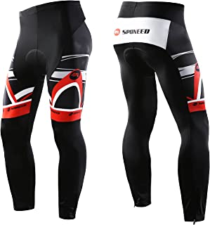 3c7234112 sponeed Cycling Long Tights Leggings Biking Pants with Padding UV proof