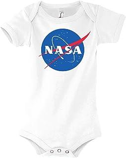 TRVPPY Baby Jungen & Mädchen Kurzarm Body Strampler Modell NASA