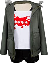 Ya-cos Persona 5 Futaba Sakura Cosplay Costume A.F.K. Logo Casual Coat Jacket Shirt Tee Suit Dress Up
