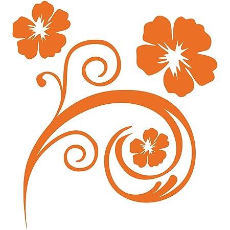 Kleb Drauf 1 Blumenranke Orange Matt Autoaufkleber Autosticker Decal Aufkleber Sticker Auto Car Motorrad Fahrrad Roller Bike Deko Tuning Stickerbomb Styling Wrapping Auto