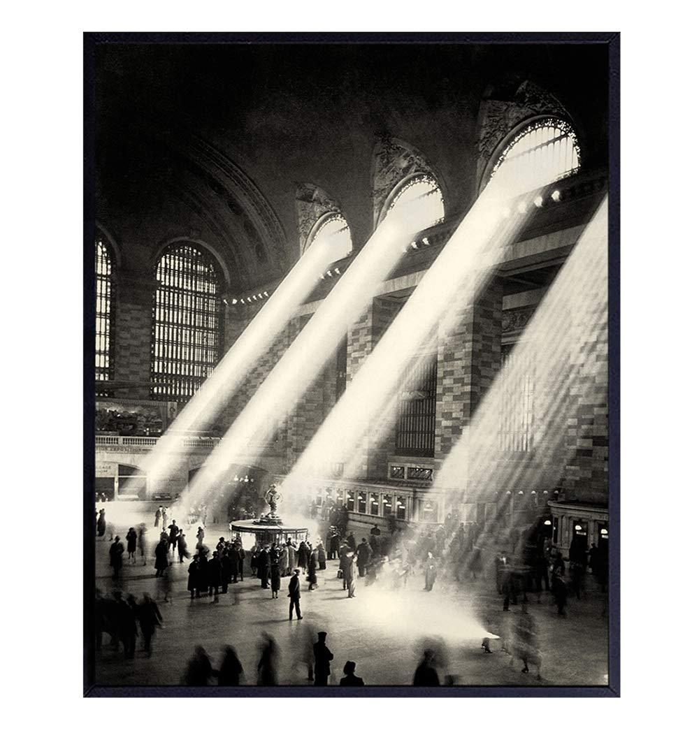 New York City Vintage Photograph Art - 8x10 Photo Picture Home Decor, Wall Decoration- Gift for NY, NYC, Big Apple Fans - Unframed Picture Print