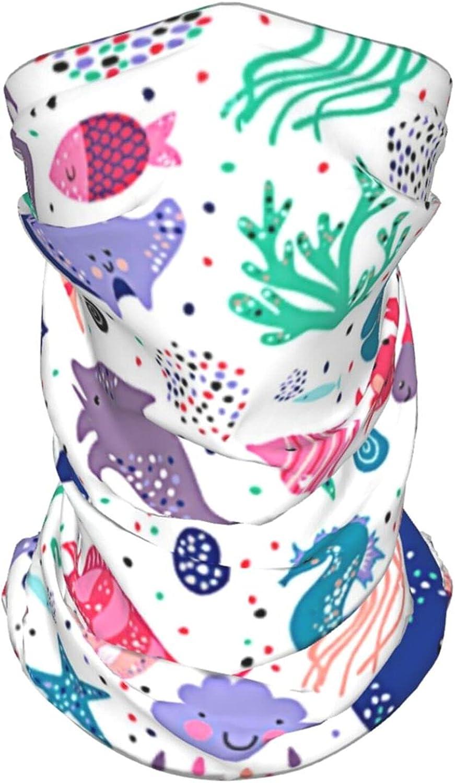 Strawberry Neck Gaiter Multipurpose Headwear Ice Silk Mask Scarf Summer Cool Breathable Outdoor Sport 4 Pcs