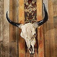 ロングホーンスカル アメリカ ハンティング トロフィー剥製 骨標本彫像