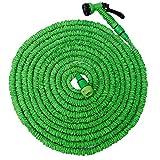 EYEPOWER Hochwertiger Gartenschlauch Flexibler Wasserschlauch Schlauch 10m-30m inkl 7fach Multifunktions Sprühkopf Grün