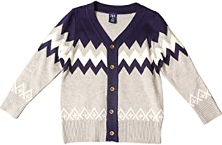 NIUBAO Baby boy Long-Sleeved Autumn and Winter Fashion V-Neck Cardigan Sweater