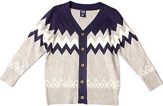 NIUBAO طفل صبي طويل الأكمام أزياء الخريف والشتاء الخامس الرقبة سترة سترة