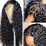 26 Inch Human Hair Wig for Black Women Water Wave Closure Wigs Human Hair 10A Brazilian Virgin Human Hair Wet and Wavy Lace Front Wigs 4x4 Human Hair Wigs 150% Density