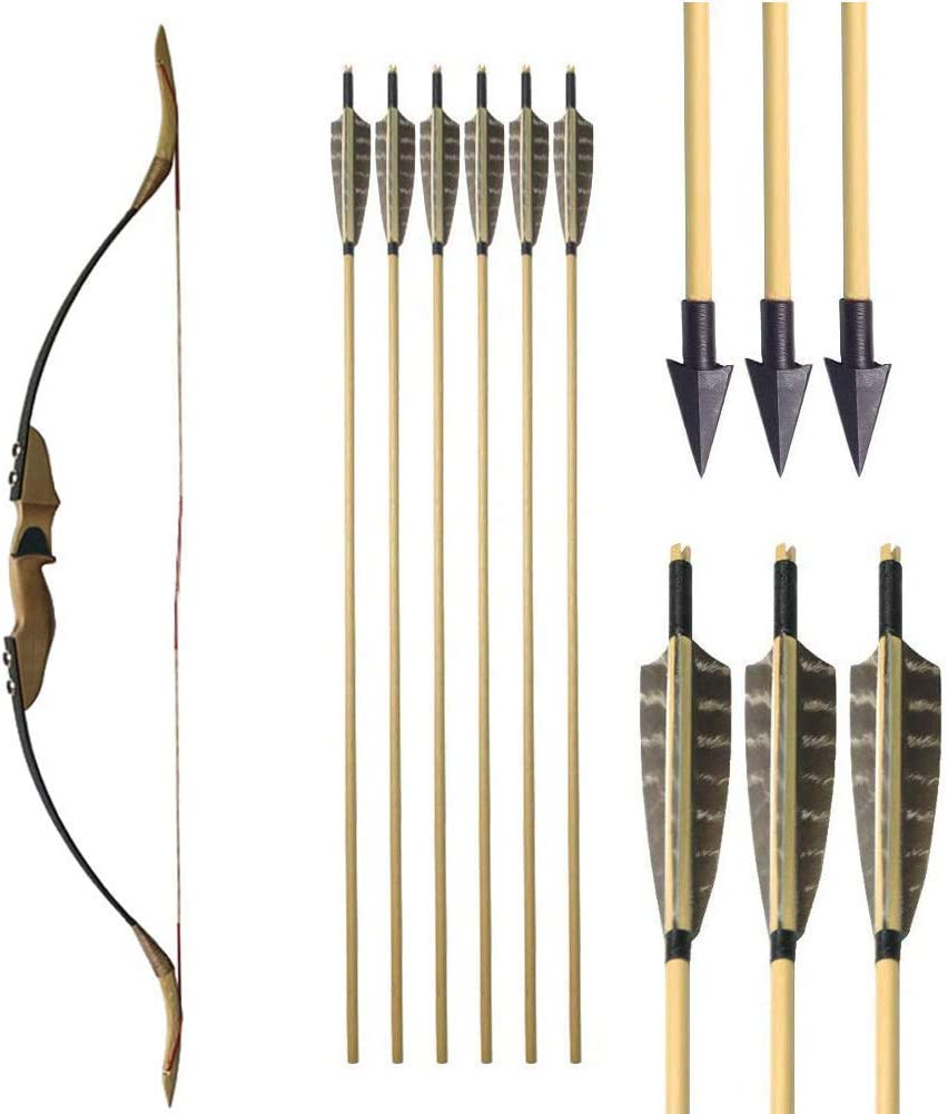 NMCPY 30-50lbs Archery Indefinitely Traditional Takedown shipfree 54in Set Bow Recurve