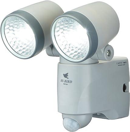 高儀 EARTH MAN 乾電池式 LEDセンサーライト ダブル HI-BIRDシリーズ SLT-110