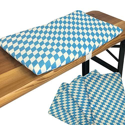 Bierbank-Sitzkissen 4er Set Sitzauflage 25 x 36 cm Bierbankkissen mit Befestigungsband Sitzunterlage für 25 cm breite Bierbänke