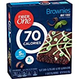 General Mills, Fiber One 90 Calorie, Mint Fudge Brownies, 6 Count, 5.34oz Box (Pack of 3)