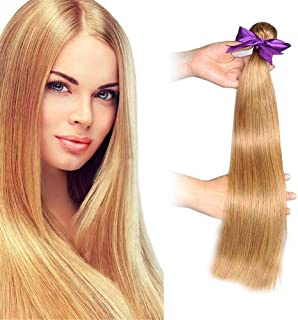 RemeeHi Brazilian Straight Hair Unprocessed Virgin Brazilian 100% Human Hair Weave Weft for Gift 100g 20 Inch 130# Orange