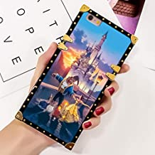 DISNEY COLLECTION Phone case Compatible with iPhone 6, iPhone 6S Beast Dances with Beauty Reinforced Edges Shine Fashion Luxury Cool Cute Cartoon Bumper Shock Absorption Cover