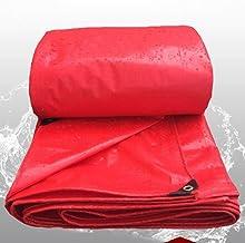 LYLSXY Dik 0,23 mm dekzeil, rode regendichte doek waterdicht dekzeil, tuindoek outdoor zonnescherm doek stofbestendig/roo...