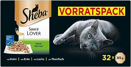 Sheba Sauce Lover – Feine Häppchen in Sauce für ausgewachsene Katzen – Alleinfuttermittel in der Schale