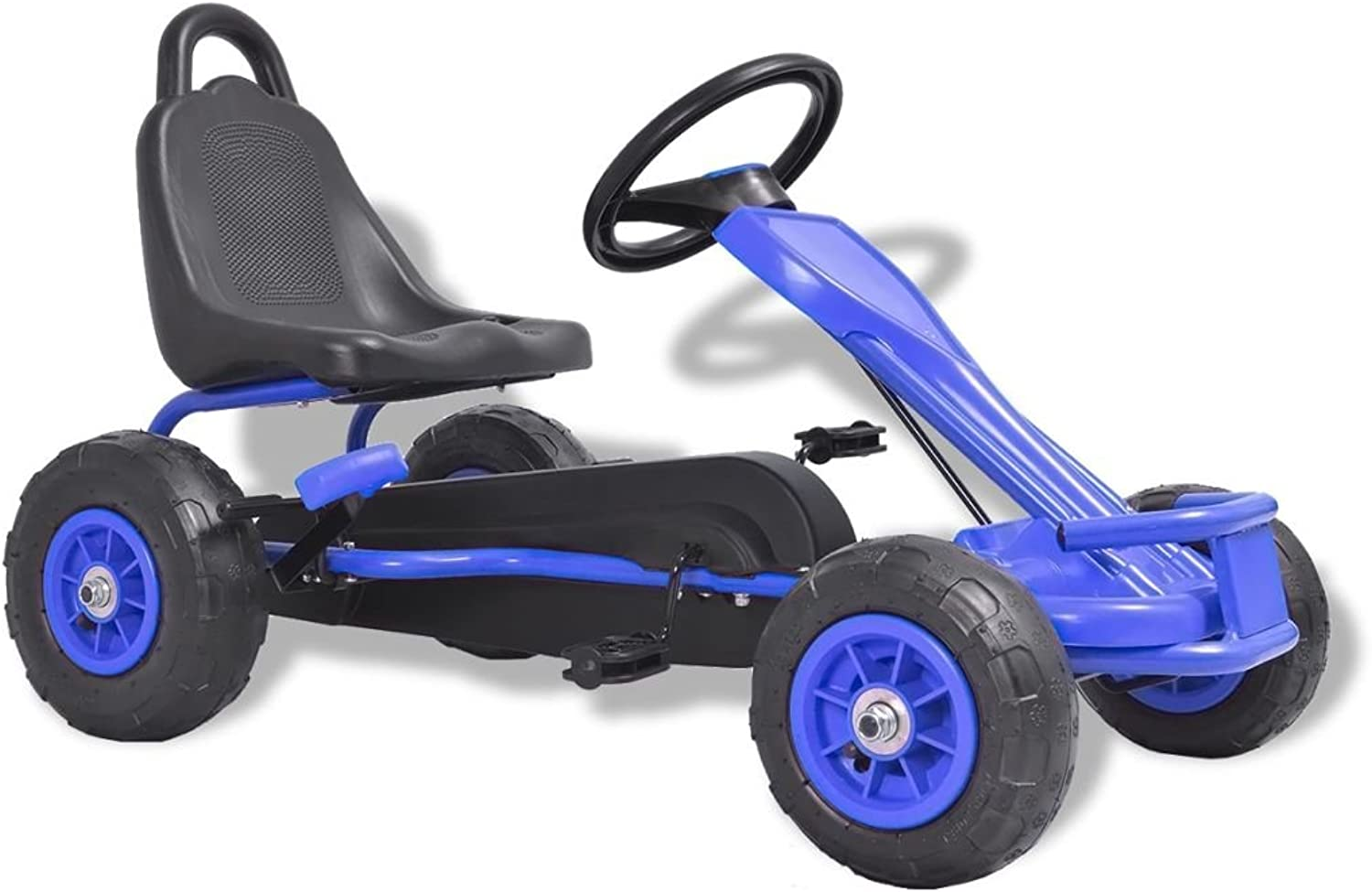 Festnight GoKart bluee and Black 90 x 50 x 51 cm for Kid Pedal 1 seater Outdoor Toy Racing