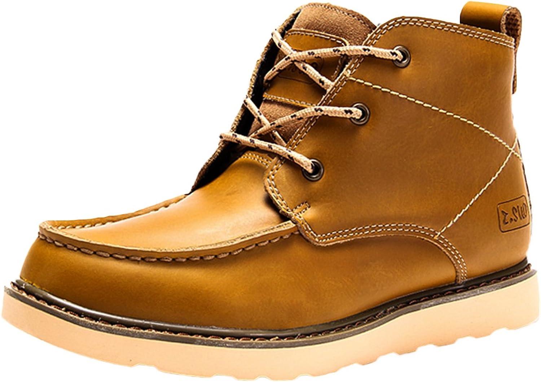 Insun Men's Fleece Lining Ankle Leather Boots