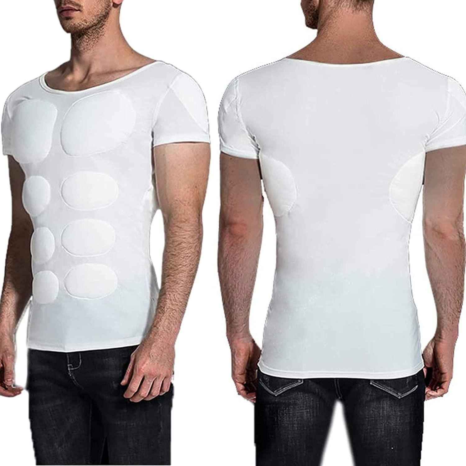 3D Chest Muscle T Shirt Max 40% OFF Funny Pack Superlatite Six Fake Abs Tank Compression