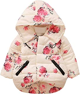 KINDOYO Hooded Outerwear Baby Girls - Kids Cotton Winter Warm Coats Thick Jacket